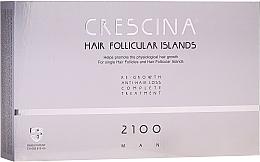 Perfumería y cosmética Tratamiento en ampollas anticaída del cabello para hombres 2100 - Labo Crescina Hair Follicular Island Re-Growth Anti-Hair Loss Complete Treatment 2100 Man