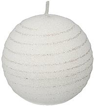Perfumería y cosmética Vela decorativa, bola blanca, 10cm - Artman Andalo