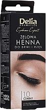 Perfumería y cosmética Tinte gel para cejas y pestañas, negro - Delia Eyebrow Tint Gel ProColor 1.0 Black