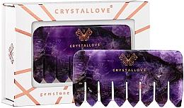 Perfumería y cosmética Peine de masaje de cuero cabelludo de piedra amatista - Crystallove