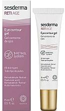 Perfumería y cosmética Gel antiedad para contorno de ojos con complejo de retinol - SesDerma Laboratories Reti Age Facial Eye Contour Gel 3-Retinol System