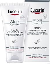 Perfumería y cosmética Crema de manos con tendencia atópica con ceramidas y avena, sin fragancia - Eucerin AtopiControl Intensiv Hand Creme