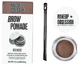 Perfumería y cosmética Pomada para cejas con pincel, acabado mate - Makeup Obsession Brow Pomade
