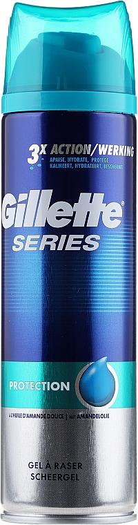 Gel de afeitar protector con aceite de almendras dulces - Gillette Series Protection Shave Gel for Men