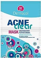 Perfumería y cosmética Mascarilla facial con arcilla blanca, extractos de avena y camomila - Dermacol Acne Clear Mask