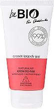 Perfumería y cosmética Crema de manos con extractos de bayas de goji y granada - BeBio Natural Hand Cream Goji Berry & Pomegranate
