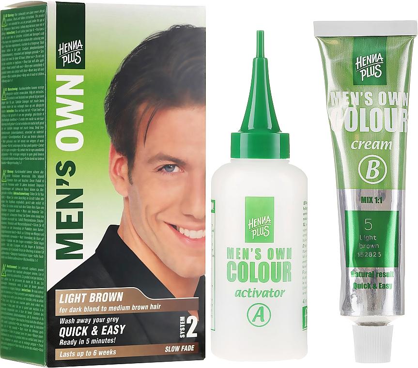 Tinte de cabello de larga duración, sin amoniaco - Henna Plus Men Own Hair Colouring