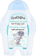 Perfumería y cosmética Champú y gel de ducha infantil con extracto de aloe vera, aroma a arándano - Bluxcosmetics Naturaphy Hair & Body Wash