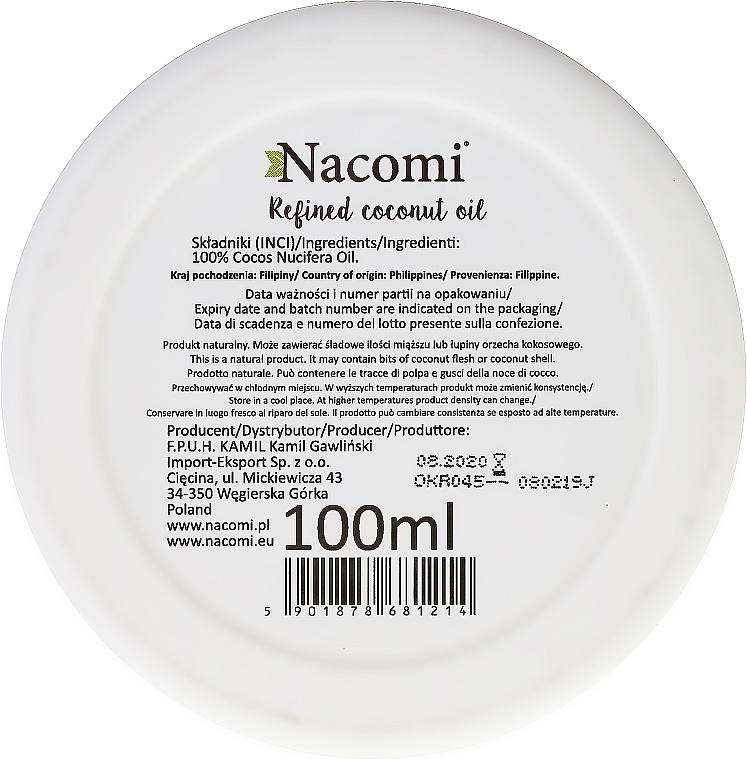 Manteca de coco refinada 100% natural - Nacomi Coconut Oil 100% Natural Refined — imagen N3