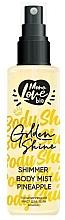Perfumería y cosmética Bruma corporal con aroma a piña - MonoLove Bio Shimmer Body Mist Pineapple Golden Shine