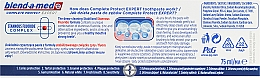 Pasta dental con fluoruro - Blend-a-med Oral-B Complete Protect Expert Strong Teeth Toothpaste — imagen N3