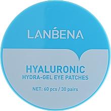 Perfumería y cosmética Parches para contorno de ojos de hidrogel con ácido hialurónico y colágeno - Lanbena Hyaluronic Acid Collagen Gel Moisturizing Eye Patch