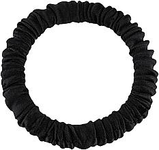 Perfumería y cosmética Coletero de seda natural, negro - Makeup Skinny Scrunchie Black