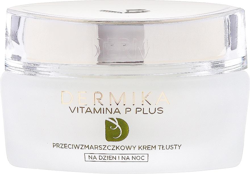 Crema facial antiarrugas con escualano, aceite de oliva y aguacate - Dermika Vitamina P Plus Face Cream — imagen N2