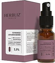 Perfumería y cosmética Spray bucal 100% natural vegano con aceite de comino negro y 2,5% CDB - Herbliz CBD Oil Mouth Spray 2,5%