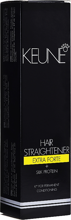 Set para alisado extra fuerte de cabello (crema alisadora/85ml + bálsamo fijador/85ml) - Keune Hair Straightener Extra Forte + Silk Protein + Fixing Balm