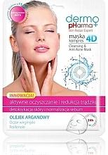 Perfumería y cosmética Mascarilla facial con aceite de argán y vitamina E - Dermo Pharma Skin Repair Expert Cleansing Anti Acne Mask 4D