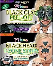 Perfumería y cosmética Mascarilla peel off de limpieza facial con carbón activo - 7th Heaven Charcoal Duo Black Clay Peel Off