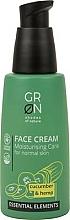 Perfumería y cosmética Crema facial con extracto de pepino y semilla de cáñamo - GRN Essential Elements Cucumber & Hemp Face Cream