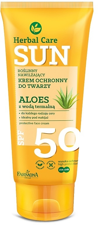 Crema solar facial con Aloe vera - Farmona Herbal Care Sun SPF 50