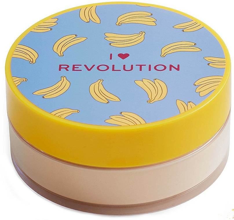 Polvo suelto de maquillaje cocido, aroma a plátano - I Heart Revolution Loose Baking Powder Banana
