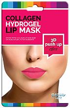 Perfumería y cosmética Mascarilla para labios de hidrogel con colágeno, extracto de vino tinto y semilla de uva - Beauty Face 3D Push-Up Collagen Hydrogel Lip Mask