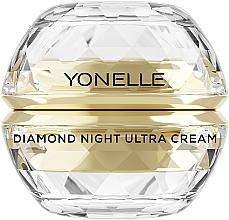 Perfumería y cosmética Crema de noche rejuvenecedora con ceramidas y oro - Yonelle Diamond Night Ultra Cream