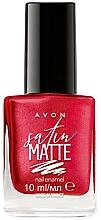 Perfumería y cosmética Esmalte de uñas, mate - Avon Satin Matte Nail Enamel