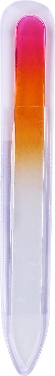 Lima de uñas de vidrio, color rosa-naranja - Tools For Beauty Glass Nail File With Rainbowr Print — imagen N2