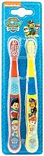 Perfumería y cosmética Set cepillos de dientes, suaves, rojo+amarillo - Nickelodeon Paw Patrol (2uds.)