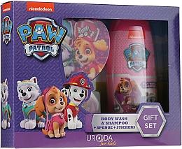 Perfumería y cosmética Set para niños - Uroda Paw Patrol Girl (champú./gel de ducha/250ml + esponja + pegatinas)
