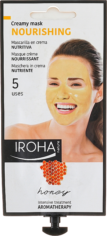 Mascarilla facial nutritiva de miel y aceite de jojoba - Iroha Nature Nourishing Honey Creamy Mask — imagen N1