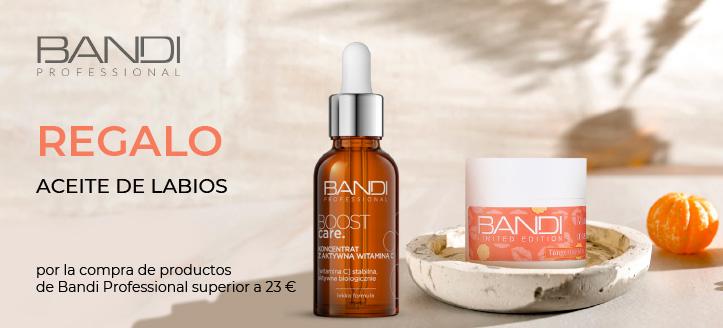 Por la compra de productos de la marca Bandi Professional superior a 23 €, recibe un aceite de labios de regalo