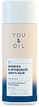 Perfumería y cosmética Champú natural equilibrante para hombre con aceite esencial de cedro y agua de romero - You&Oil Nourish & Invigorate Men's Hair Shampoo