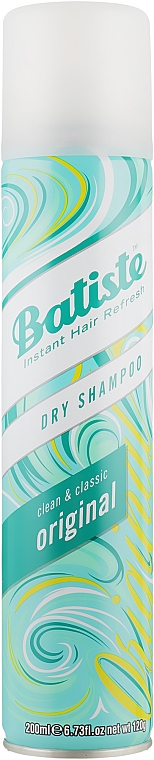 Champú seco en spray con aroma refrescante - Batiste Dry Shampoo Clean and Classic Original