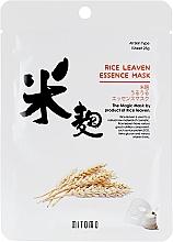 Perfumería y cosmética Mascarilla facial de tejido con extracto de levadura de arroz - Mitomo Rice Leaven Essence Mask