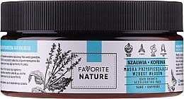 Perfumería y cosmética Mascarilla capilar con extracto de salvia y cafeína - Favorite Nature Hair Growth Accelerating Mask Sage & Caffeine