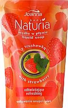 Perfumería y cosmética Jabón líquido con extracto de fresa (recarga doypack) - Joanna Naturia Body Strawberry Liquid Soap