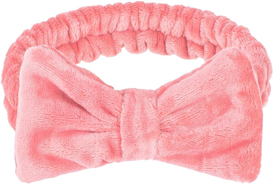 Cinta de pelo cosmética, color coral - Makeup Coral Hair Band Wow Bow