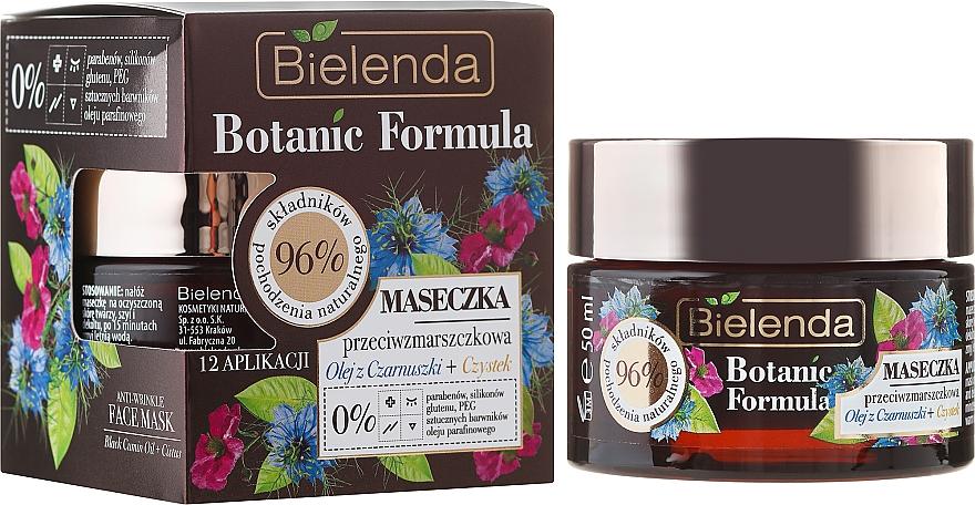 Mascarilla facial antiarrugas con extracto de cistus y aceite de comino negro - Bielenda Botanic Formula Black Seed Oil + Cistus Anti-Wrinkle Face Mask