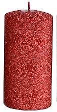 Perfumería y cosmética Vela decorativa, 7x18cm, roja - Artman Glamour