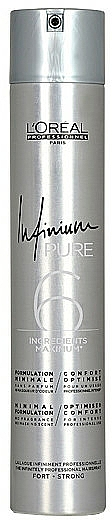 Laca hipoalergénica sin perfume, fijación fuerte - L'Oreal Professionnel Infinium Pure Strong