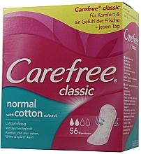 Perfumería y cosmética Salvaslip de algodón con protección duradera, 56 uds. - Carefree Classic Normal With Cotton Extract