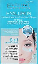Perfumería y cosmética Parches refrescantes para ojos con ácido hialurónico 8 en 1 - Eveline Cosmetics Hyaluron Hydrogel Illuminating Eye Pads 8in1