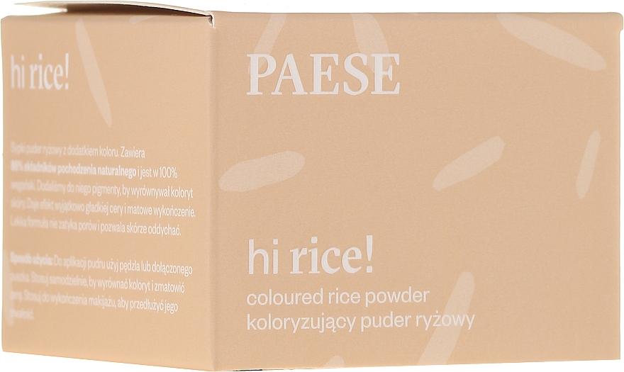 Polvos sueltos de maquillaje de arroz, efecto mate duradero - Paese Hi Rice Coloured Rice Powder