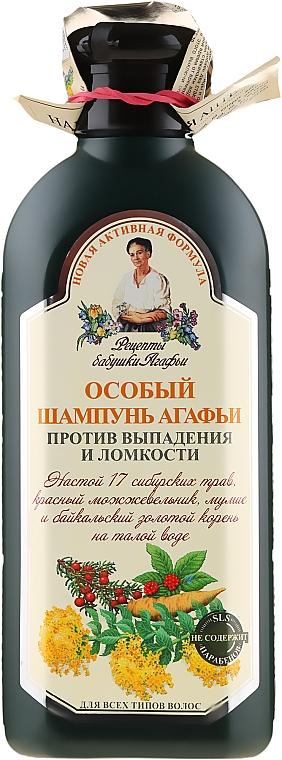 Champú anticaída con extracto de 17 hierbas siberianas - Las recetas de la abuela Agafia