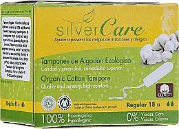 Perfumería y cosmética Tampones de algodón orgánico con aplicador, 18uds. - Masmi Silver Care