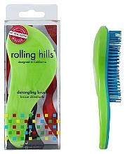 Perfumería y cosmética Cepillo de pelo desenredante, verde-azul, formato viaje - Rolling Hills Detangling Brush Travel Size Shine Green