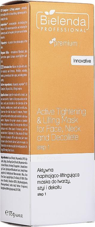 Mascarilla facial reafirmante para rostro, cuello y escote - Bielenda Professional Premium Total Lifting PPV+ Mask