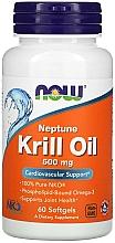 Perfumería y cosmética Complemento alimenticio en cápsulas de aceite de krill, 500 mg - Now Foods Neptune Krill Oil Softgels